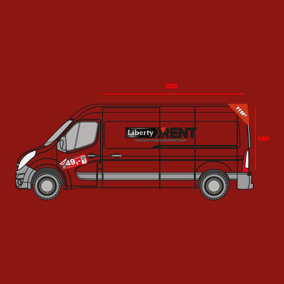 11M3 bedrijfswagen met shortlease
