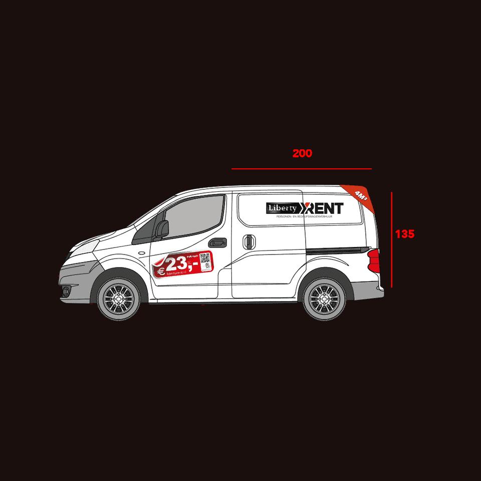 4M3 bedrijfswagen met shortlease
