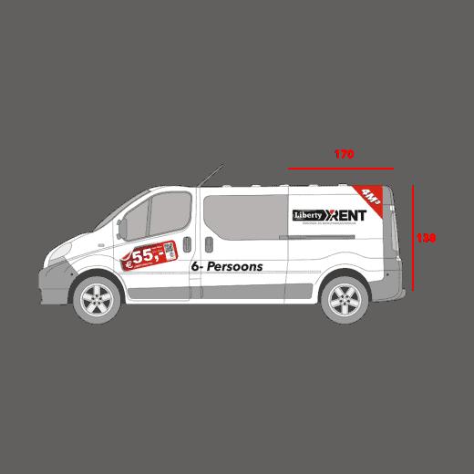 6PERS bedrijfswagen met shortlease